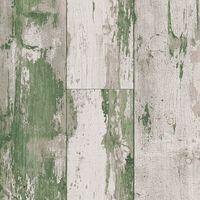 DUTCH WALLCOVERINGS Tapeta z motywem drewna, zielono-beżowa