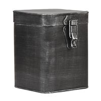 LABEL51 Pojemnik, 15x16x19 cm, L, antyczna czerń