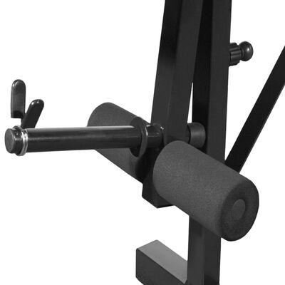 vidaXL Ławka do ćwiczeń ze stojakiem, sztangą i hantlami, 30,5 kg