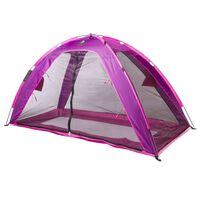 DERYAN Moskitiera namiot na łóżko, 200x90x110 cm, fioletowa