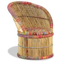 vidaXL Krzesło bambusowe w stylu chindi
