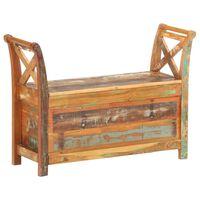 vidaXL Ławka do przedpokoju, 103x33x72 cm, lite drewno z odzysku