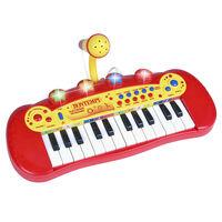 Bontempi Zabawkowy keyboard elektroniczny z mikrofonem i 24 klawiszami
