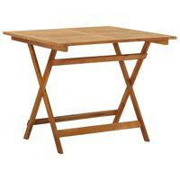 vidaXL Składany stół ogrodowy, 90x90x75 cm, lite drewno akacjowe