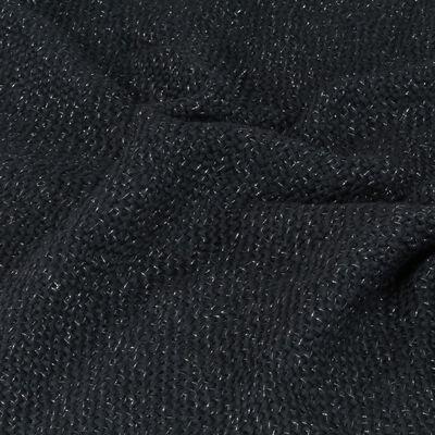 vidaXL Narzuta z lurexu, 160 x 210 cm, antracytowa