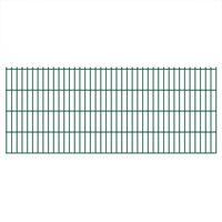 vidaXL Panele ogrodzeniowe 2D, 2,008 x 0,83 m, 16 m, zielone