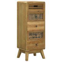 vidaXL Komoda z 5 szufladami, brązowa, 37 x 30 x 97,5 cm, drewno