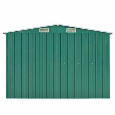 vidaXL Szopa ogrodowa, 257 x 298 x 178 cm, metal, zielona