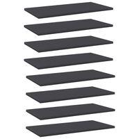 vidaXL Półki na książki, 8 szt., szare, 60x30x1,5 cm, płyta wiórowa