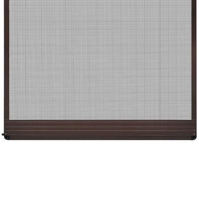 vidaXL Moskitiera na drzwi z brązową ramą, 100 x 215 cm