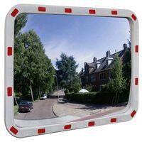 vidaXL Lustro drogowe, prostokątne, 60 x 80 cm, z odblaskową ramą