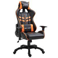 vidaXL Fotel dla gracza, pomarańczowy, sztuczna skóra