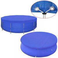 vidaXL Plandeka na basen, okrągła, PE, 460 cm, 90 g/m²