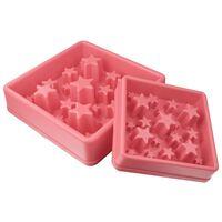EAT SLOW LE LONGER Miska spowalniająca jedzenie Star, różowa, L