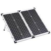 vidaXL Składany panel solarny, walizkowy, 60 W, 12 V