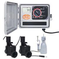 vidaXL Sterownik nawadniania z czujnikiem i zaworem elektromagnetycznym