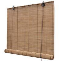 vidaXL Rolety bambusowe, 140 x 160 cm, brązowe