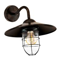 EGLO Ścienna lampa zewnętrzna Melgoa, ciemnobrązowa, 60 W, 94863
