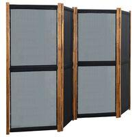 vidaXL Parawan 4-panelowy, czarny, 280 x 170 cm