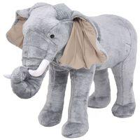 vidaXL Pluszowy słoń, stojący, szary, XXL