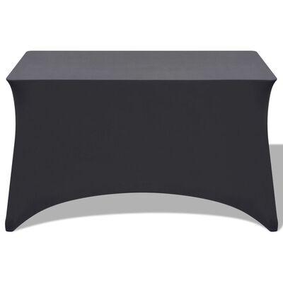 vidaXL Elastyczne pokrowce na stół, 243x76x74 cm, 2 szt., antracytowy
