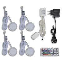 Podświetlenie LED, okrągłe, pod meble i szafki kuchenne (4 części)