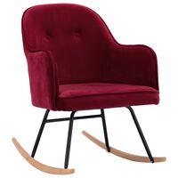 vidaXL Fotel bujany, winna czerwień, tapicerowany aksamitem
