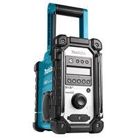 Makita Radio budowalne bez akumulatora i ładowarki, niebiesko-czarne